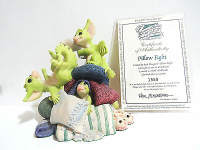 """Real Musgrave """"Pillow Fight"""" Pocket Dragon Issued 1996 Retired 1997 Made in UK!"""