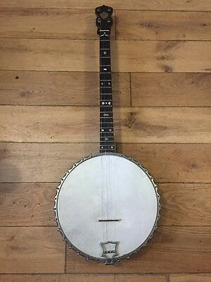 RARE John Grey & Sons (London) 4-String Banjo with Hard Case