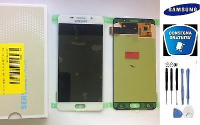 Display Lcd + Touch Screen Originale Samsung Galaxy A5 2016 Sm-A510F Bianco +Kit