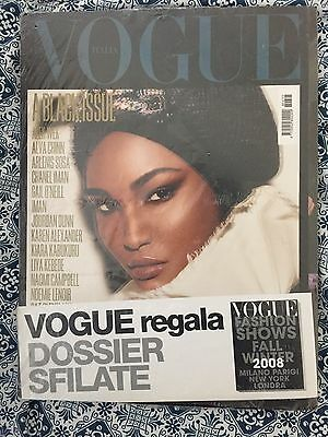 Groundbreaking Set Of  All 4 Covers Of Vogue Italia Black Issue 2008.
