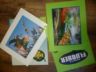 Two Disney Commemorative Lithographs- Flubber And A Bugs Life Prints