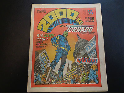 2000AD prog 129 comic in good condition (08 September 1979)