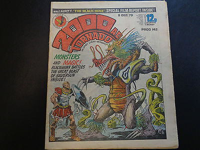2000AD prog 142 comic in good condition (08 December 1979)