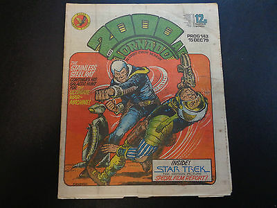 2000AD prog 143 comic in good condition (15 December 1979)