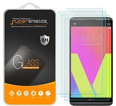 3X Supershieldz LG V20 Tempered Glass Screen Protector Saver