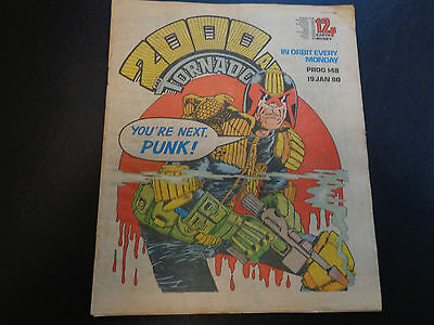 2000AD prog 148 comic in good condition (19 January 1980)
