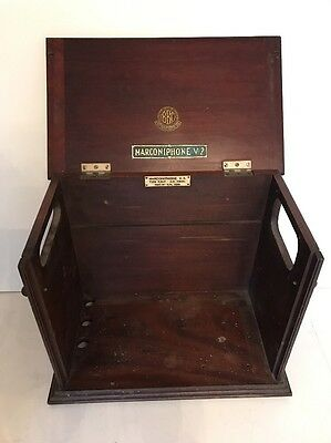 MARCONIPHONE V-2 early bbc post master radio cabinet