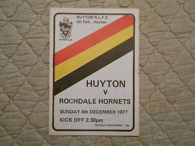 Huyton V Rochdale Rugby League Match Programme 1977