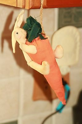 Cute Country bunny & carrot  hanging