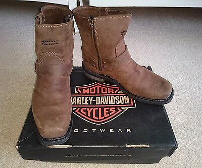 Mens Harley Davidson El Paso Brown leather boots size 7