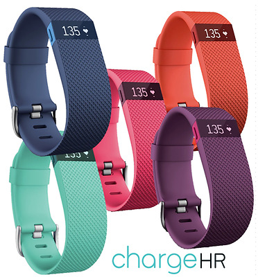 Fitbit Charge HR Wireless Activity Fitness Heart Rate Wristband Tangerine SMALL