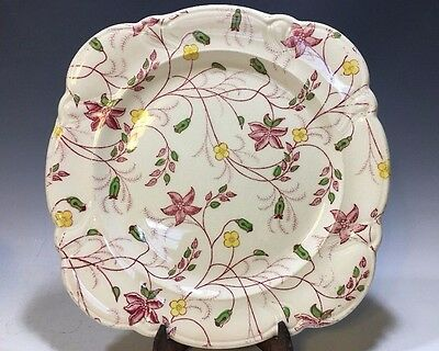 "Chelsea Chintz Taylor Smith And Taylor Co. Square Plate - 7 7/8""D"