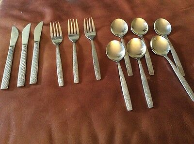 Vintage United Airlines Silverware Flatware  Stainless