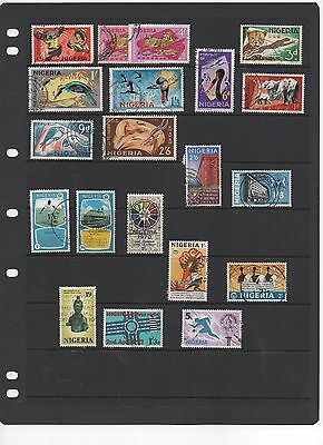 Nigeria. Selection incl. SG175,177a,178,179,182 etc. Total of 20 stamps. G-FU.