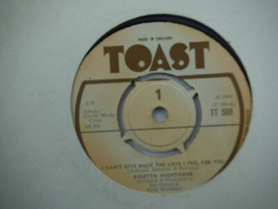 """Rosetta Hightower,I Can't Give Back The Love I Feel For You,Rare press,7"""""""
