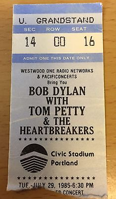 1986 Bob Dylan Tom Petty And The Heartbreakers Portland Concert Ticket Stub 16