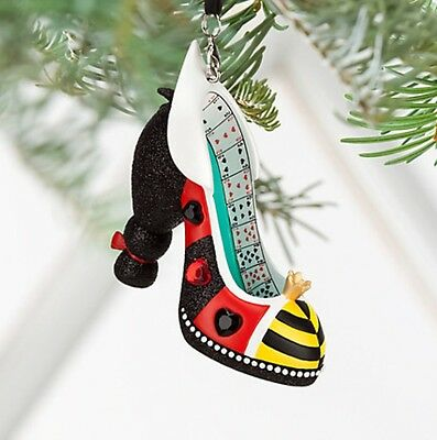 Disney Queen Of Hearts Shoe Ornament Tree Decoration, Alice In Wonderland, Bnwt