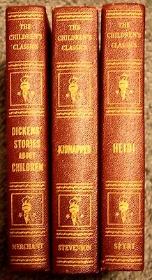 'The Children's Classics' - Lot of 3, 1925-29 Heidi, Kidnapped and Dickens - OLD