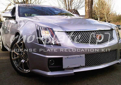Rho-plate no holes, tow hook license plate mounting bracket - Cadillac CTS-V