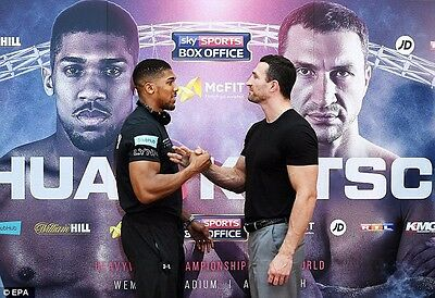anthony joshua v klitschko ticket and coach package Seats X 2