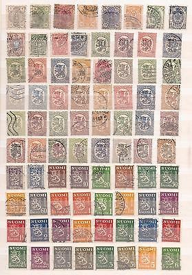 Finnland  -  Lot Of 100 Stamps  -  2 Images