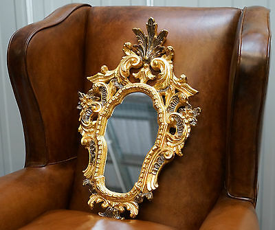 Lovely French Style Baroque Rococo Gold Gilt Wall Mirror 59 X 38.5Cm Nice Size