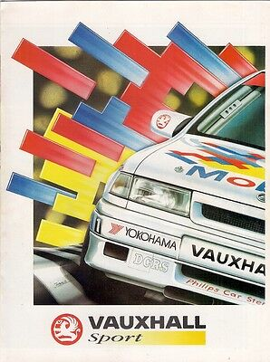 Vauxhall Sport Artwork Illustrations 1993 UK Market Brochure Nova Astra Cavalier