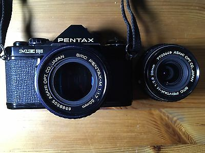 Pentax ME Super 35mm SLR Film Camera with 50mm And 28mm Lens