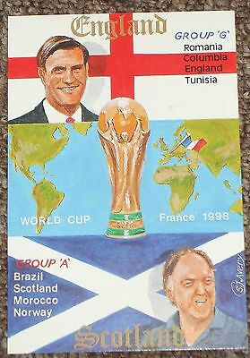 World Cup 1998 postcard depicting England and Scotland