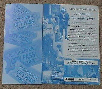 2000 City Of Gloucester & A Journey Through Time Leaflets