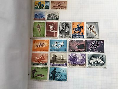 A to Z european stamp collection good assortment of stamps in album