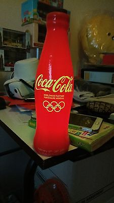 Rare and Limited 2010 Vancouver Olympics Coca Cola Glowing Bottle