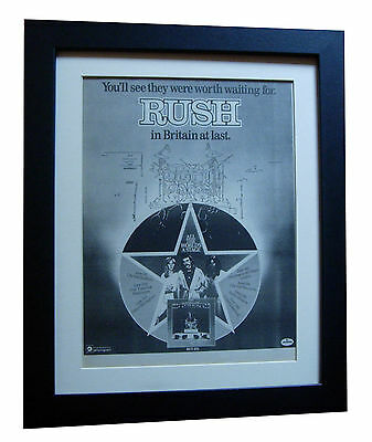 RUSH+All World's A Stage+POSTER+AD+RARE ORIGINAL 1977+FRAMED+EXPRESS GLOBAL SHIP