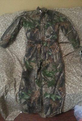 Walls Youth Size 14 Coveralls Realtree Hardwoods Camo Insulated EUC