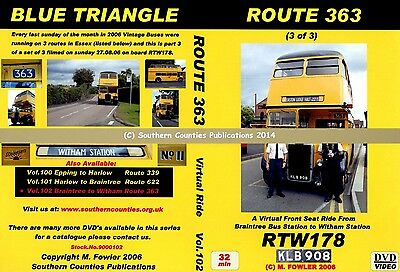 Vol.102 Route 363 Braintree Bus Station to Witham Virtual Ride Bus Transport DVD