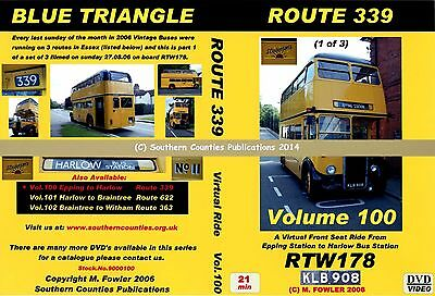Vol.100 Route 339 Epping Station to Harlow Virtual Ride Bus Transport DVD