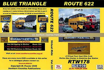Vol.101 Route 622 Harlow Bus Station to Braintree Virtual Ride Bus Transport DVD