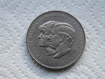 1981 Prince of Wales and Lady Diana Spencer ROYAL WEDDING Crown Coin