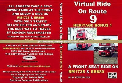 Vol.30 Route 9 Aldwych to Hammersmith Virtual Ride Bus Transport DVD