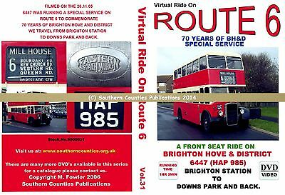 Vol.31 Route 6 Brighton Station to Downs Park Virtual Ride Bus Transport DVD