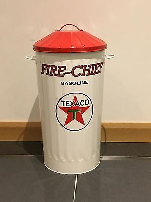 vintage style storage bin 55Ltr Texaco Oil  , Man Cave , Games Room , retro