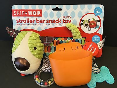 NEW Skip Hop Puppy Stroller Bar Snack Toy