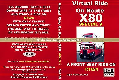 Vol.36 Route X80 Gravesend - Lakeside - Bluewater Virtual Ride Bus Transport DVD