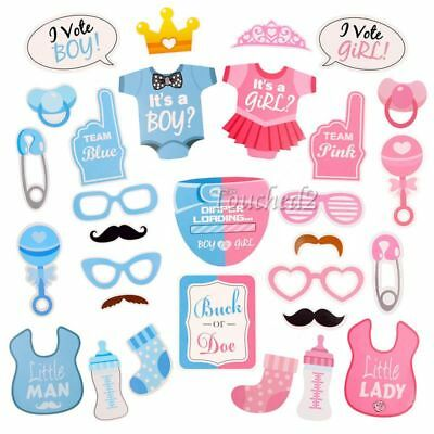 Baby Shower Photo Booth Props First Birthday Party Photography Boy Girl New Born