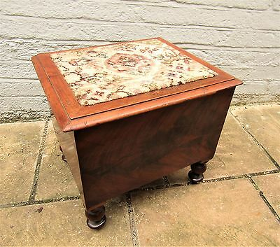 Antique Victorian Mahogany Box on four turned legs
