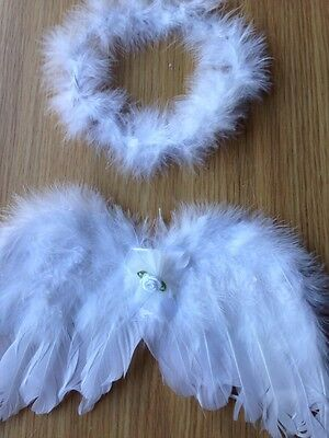 Angel  Baby Prop Wings .Photo Props. Wings And Halo . Baby Fancy Dress .