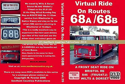 Vol.39 Routes 68A/68B Winchester to Barton Stacey Virtual Ride Bus Transport DVD