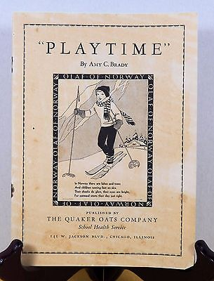 "1935 ""Playtime"" Booklet from the Quaker Oats Co. , Stories from Around the World"