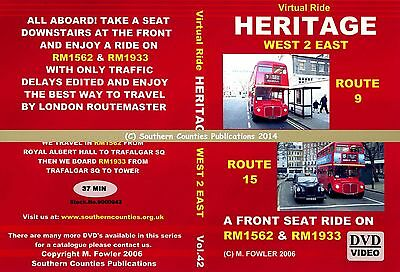 Vol.42 Heritage Routes 15 & 9 Royal Albert Hall to Tower Virtual Ride Bus DVD