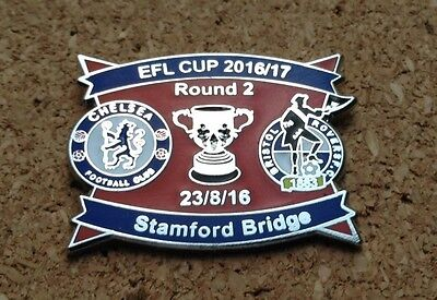 CheIsea v Bristol Rovers - 2016/17 EFL Cup Round 2 Pin/Badge (blue/red)